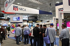 NRCA's booth at IRE