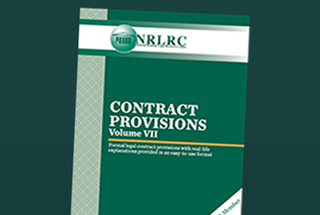 NRLRC Contract Provisions, Volume VII