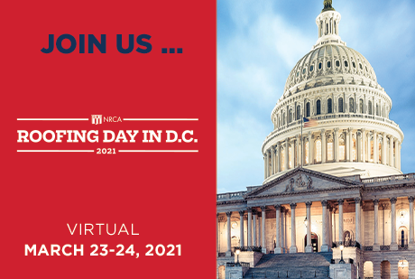 Register for Roofing Day in D.C. 2021
