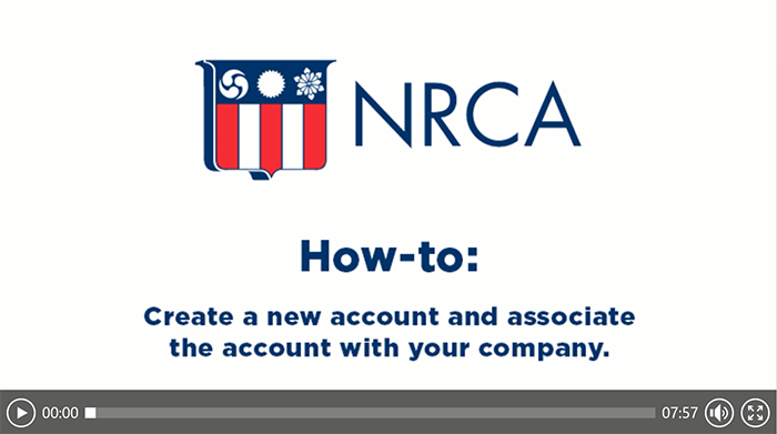 NRCA account set up tutorial