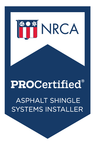 Asphalt Shingles Systems Installer Badge