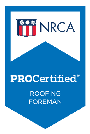 Roofing Foreman Badge